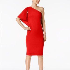 Lauren Ralph Lauren One Shoulder Sheath Dress
